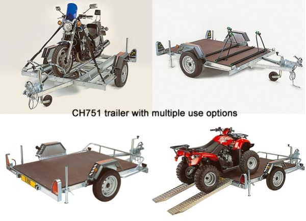 Indespension CH751 Motorcycle Trailer