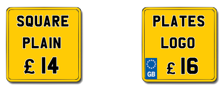 Square Number Plates
